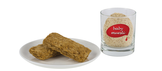 Wheat biscuits and infant muesli