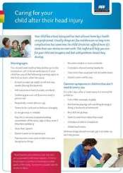 Image of ACC resource - Caring for your child after their head injury