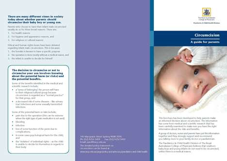 Thumbnail image of cover of circumcision pamphlet