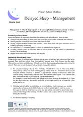 Thumbnail of 'Delayed sleep - Management' handout