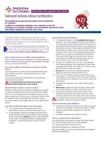 General advice about antibiotics leaflet