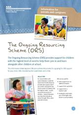 The Ongoing Resourcing Scheme (ORS) pamphlet cover