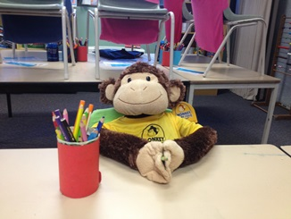 Picture of monkey in the chair
