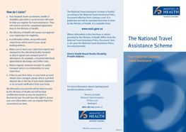 National Travel Assisistance Scheme: Ministry of Health brochure