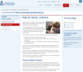Thumbnail image of screenshot of NZ Police website