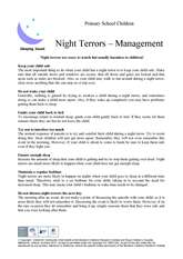 Thumbnail of 'Night terror' handout