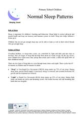 Thumbnail of first page of 'Normal sleep patterns' handout