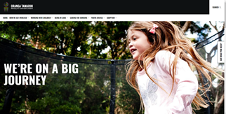 Thumbnail image of screenshot of Oranga Tamariki website