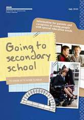 Cover of booklet 'Going to secondary school '