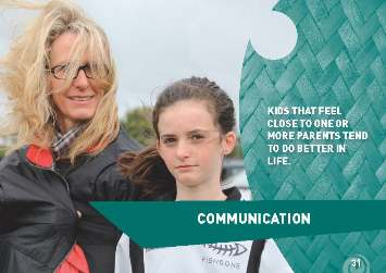 "Photo of mother and daughter with the words: ""Kids that feel close to one or more parents tend to do better in life"""
