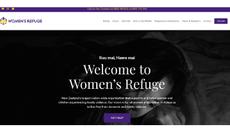 Thumbnail image of screenshot of Women's refuge website