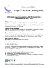 Thumbnail of 'Sleep association - management' handout