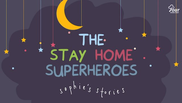 Screenshot of 'The stay home superheroes' video