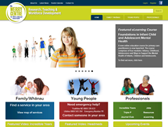 Screenshot of website homepage