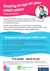 Keeping and eye on your child's vision: Vision screening (Ministry of Health)