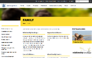 Family justice website