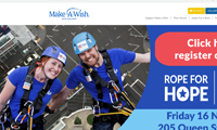 Thumbnail image of make a wish website homepage