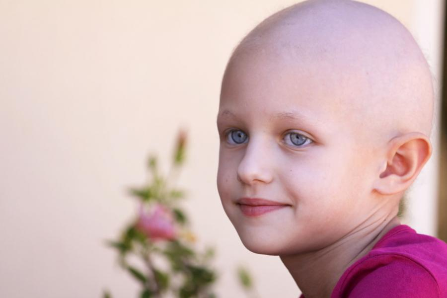A portrait photo of a girl with cancer