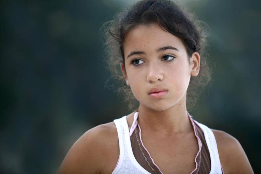 Teenage girl looking sad or thoughtful